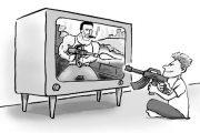 کودکان، خشونت را از تلویزیون یاد می گیرند
