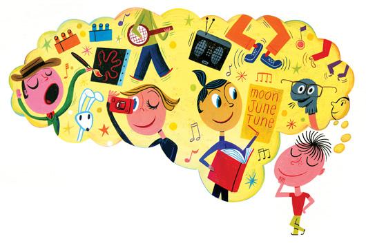 نتایج آزمون خلاقیت در سنین مختلف