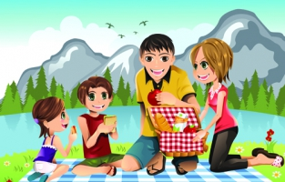 vector_happy_family_together_design_elements_529544